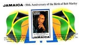 BOB MARLEY JAMAICA STAMP MINIATURE SHEET 1995
