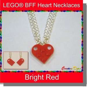 LEGO® Best Friends Forever Heart Necklaces BFF Divisible 2 Part