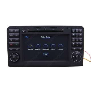 tft lcd special car navigation dvd system for mercedes benz ml class