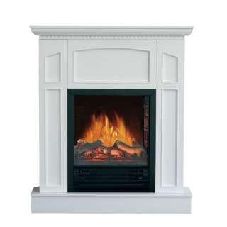 Flametec 750W/1500W White Electric Fireplace Heater US Stock