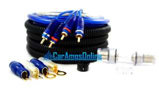 NEW 8 GAUGE CAR AMP KIT THICK TRUE 8 AWG AMPLIFIER WIRE STEREO WIRING