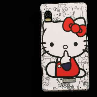 New Case for Motorola Droid 2 Global Hello Kitty Rubber
