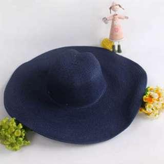 Large Brim Floppy Fold Summer Beach Travel Sun Straw Beach Derby Hat