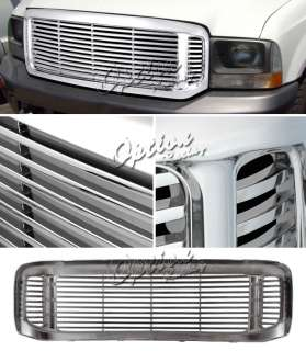 2000 2004 FORD EXCURSION FRONT UPPER ALL CHROME GRILLE
