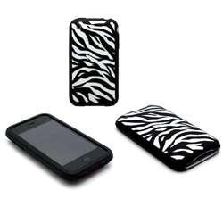 Zebra White Image Laser Cover Skin for iPhone 3G