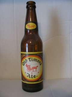 OLD & VINTAGE OLD TIMERS ALE GLASS BEER BOTTLE, TOLEDO, OHIO