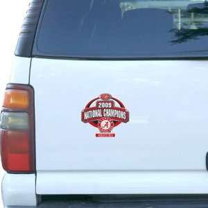 Alabama Crimson Tide 2009 BCS National Champions 8 Logo Magnet