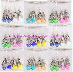 wholesale 48pairs Angel wings cat eye earrings