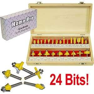 Trademark Tools Multi Purpose 24pc Router Bit Set Tools
