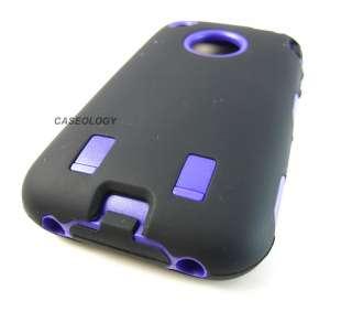 BLK PURPLE IMPACT RESISTANT HARD CASE COVER APPLE IPHONE 3G 3GS PHONE