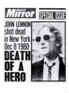 Death of a Hero, John Lennon Shot Dead in New York Dec 8 1980 Giclee
