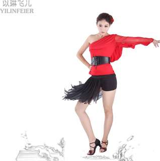 salsa tango Cha cha Rumba Ballroom Dance Dress top & skirt YL101+S8040