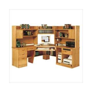 Martin Office Waterfall 6 Piece Corner Computer Desk: Furniture