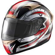 GLX DOT Tribal Full Face Motorcycle Helmet, Red, L GLX DOT Tribal Full