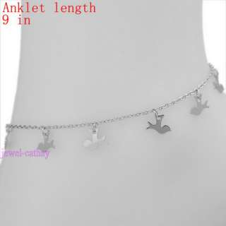 dove bird fashion new dangle bead anklet ankle bracelet