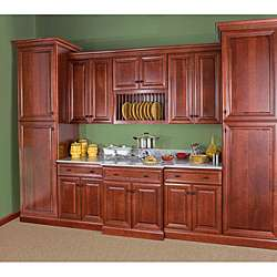 Cherry Stain/Chocolate Glaze Wall Blind Corner Kitchen Cabinet (30x30