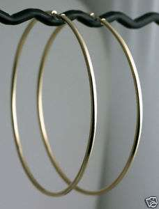 COUTURE 3 BIG 14k Yellow Gold Endless Hoop Earrings 2m