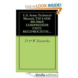 Army Technical Manual, TM 3 4310 100 20&P, COMPRESSOR UNIT