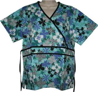 NWT CUTE BLACKSTAR SCRUB TOP VARIOUS PRINTS / STYLES
