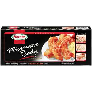 Hormel Original Microwave Ready Bacon, 12 oz Meat