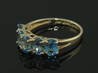 10K GOLD LONDON BLUE TOPAZ LADIES RING ESTATE JEWELRY