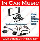 Max Double Din Fascia Kit Steering Wheel Interface Kenwood Stereo Kit