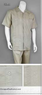 Milano Moda Summer / Spring Mens Casual Linen Walking Suit Set 2812
