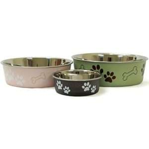 Stainless Steel BELLA BOWLS   MATCH SET OF 2    Dog