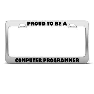 Proud To Be A Computer Programmer Career Profession license plate