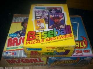 1989 BASEBALL TOPPS, DONRUSS, & FLEER WAX BOXES