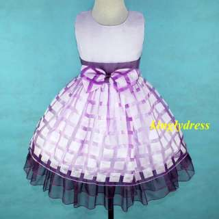 NEW Flower Girl Wedding Party Pageant Bridesmaid Dress Lilac Wears SZ