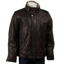 Calvin Klein Mens Faux Leather Motorcycle Jacket