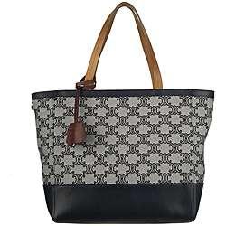 Celine 167802DLJ Grey Canvas Logo Tote Bag