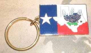 TEXAS Keychain Key Chains of a Texas FLAG & BLUEBONNETS