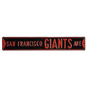 Authentic Street Signs San Francisco Giants Street Sign No Size