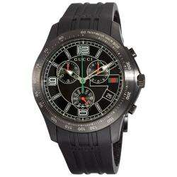 Gucci Mens G Timeless Black Rubber Strap Chronograph Watch