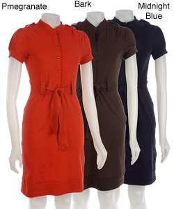 Kersh Womens Short sleeve Button up Dress