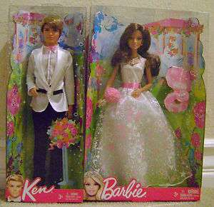 BARBIE WEDDING DAY BRIDE DOLL W/ GROOM KEN *Nu*