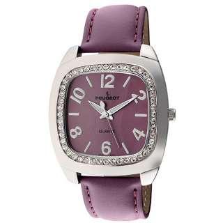 Peugeot Womens Purple Leather Strap Watch