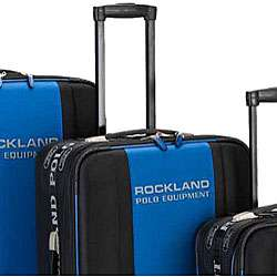 Rockland Polo Equipment Blue/Black 4 piece Luggage Set
