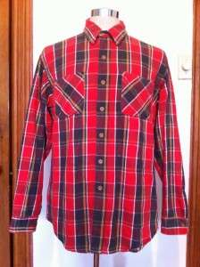 VINTAGE BIG MAC PLAID FLANNEL SHIRT MENS LARGE MINT |
