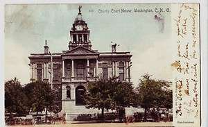 1905 WASHINGTON CH Court House Fayette County Ohio Postcard