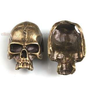 Wholesale Antique Bronze Skull Mask Alloy Pendant 35mm Free P&P