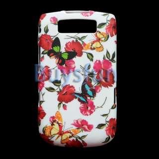 New Butterfly Flower Style Full Hard Cover Case Skin For BlackBerry