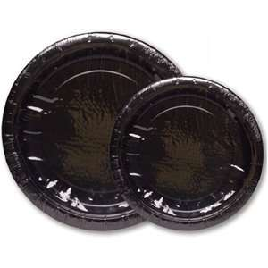 Black 9 Inch Plates 8 Count Party Supply: Health & Personal Care