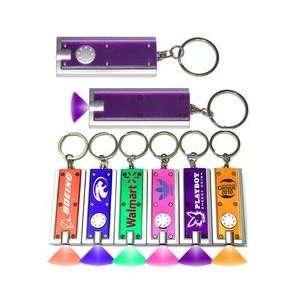 rectangular flash light with colorful light. Purple.