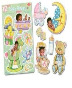 CUTE African American Baby Decorations Black Shower