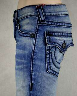 True Religion Jeans Mens RICKY Super T calvary Black STITCH 24859BKT2