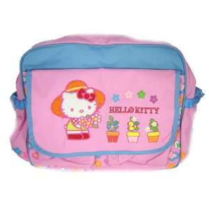 Hello Kitty Messenger Bag by Urban Station   Potted Flowers Design