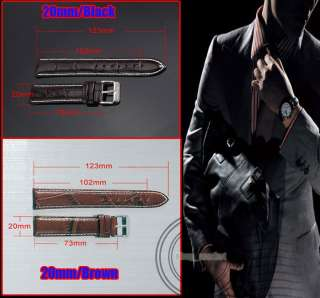 hot sale AK HOMME LOGO BLACK BROWN GENUINE LEATHER WRIST WATCH STRAP